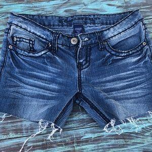 Blue asphalt shorts